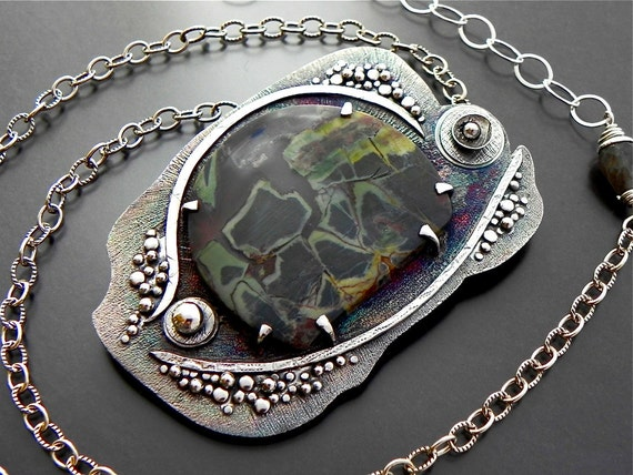 RESERVED Strength In You Sterling Necklace Handmade Jewelry Wild Prairie Silver