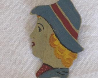Vintage Handmade 1940s Brooch