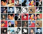 ELVIS 1x1 inch plus 1x2 inch images. Download and print (5.9)