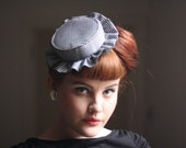 SALE Lady Ascot revisited gingham tilt hat