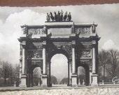 French old postcard - Arc de triomphe du Carroussel