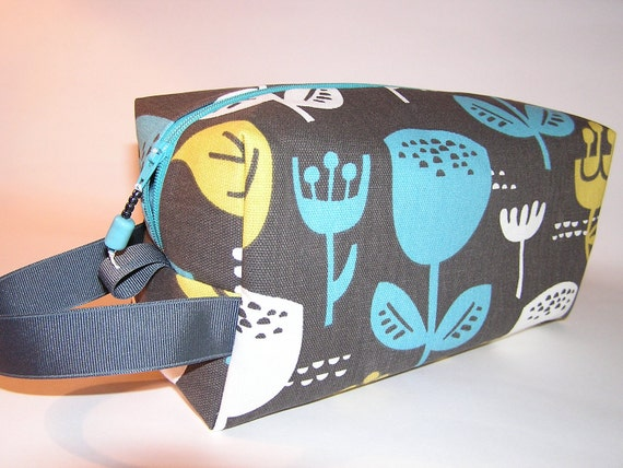 Wildflowers on Grey Project Bag