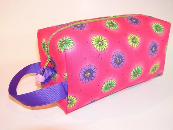 Pink Gerber Daisies Project Bag