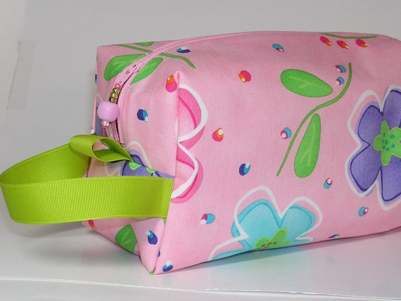 Pink Party Floral Project Bag
