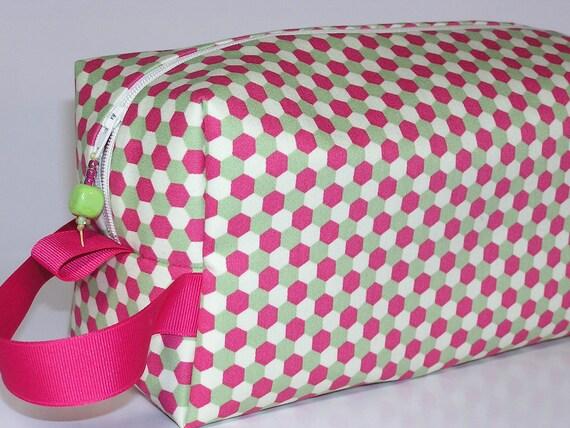 Pink Honeycomb Project Bag