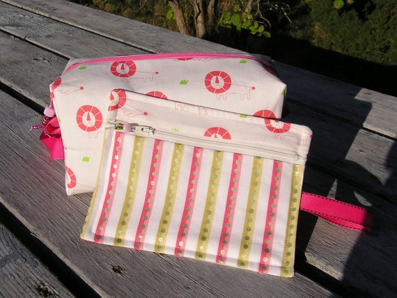 Pink Sleeping Lions Project Bag Set