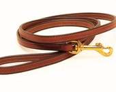 Stitched Bridle Leather Dog Leash ( to match your custom brass plate collar )