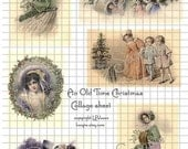 An Old Time Christmas, Digital Collage Sheet