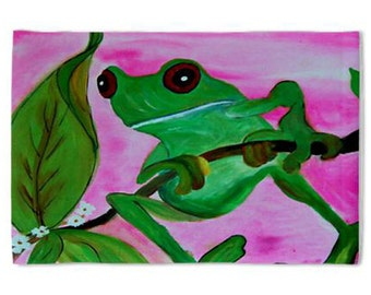 Tree Frog Pillow Case from my original art