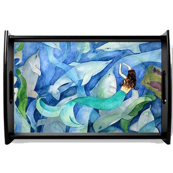 Dolphin & Mermaid Party Serving Tray available in 2 sizes