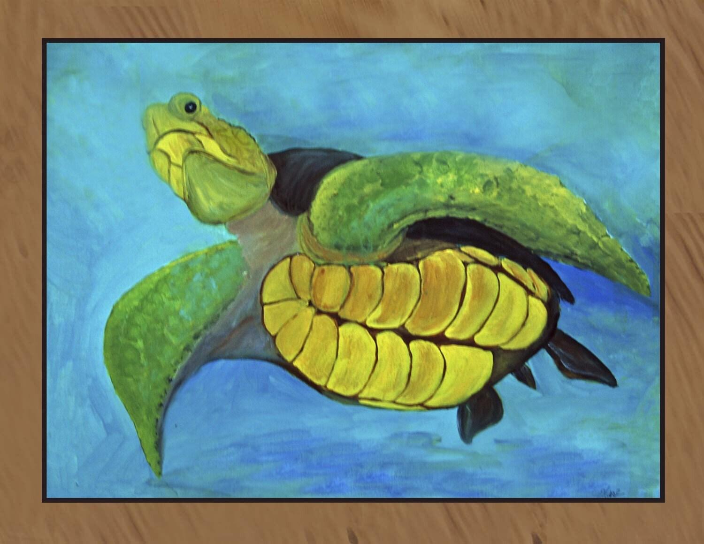 Sea Turtle Indoor Outdoor Floor Mat Rug