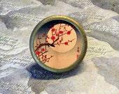 Hasui - CHERRY MOON - Japanese Art - as TIE TACK - PIN