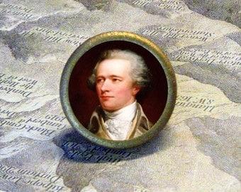 ALEXANDER HAMILTON Tie Tack or Ring