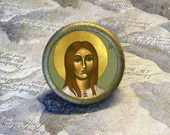 ST DYMPHNA Tie Tack or Ring