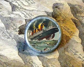 LUSITANIA - World War I - TIE TACK - PIN or ring