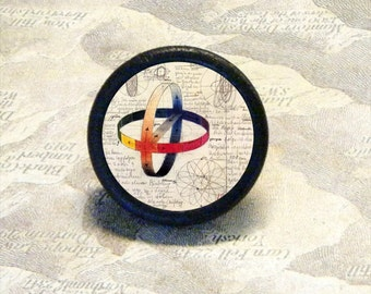 JOHANNES ITTEN - PLAYS with COLOR TIE TACK - pin or ring