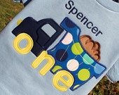 Appliqued Boys 1st Birthday Dump Truck Tee