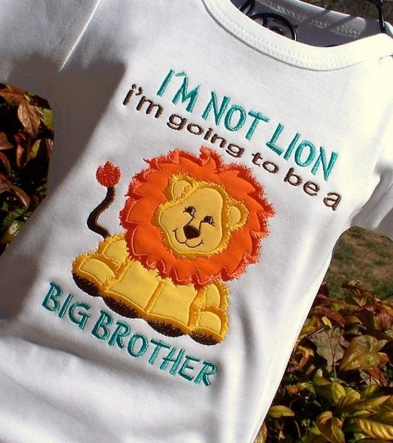Lion BIG BROTHER ANNOUNCEMENT Tee or Onesie