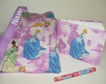 Disney Princess Cinderella autograph book bag with book, bag, and pen PERSONALIZED for FREE adjustable strap