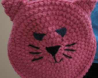 Pink Kitty Cat Pocketbook