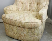 Vintage Side Chairs, Pair, SWIVEL, Great Fabric- Super Excellent Condition