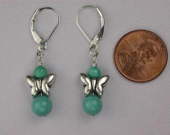 Dainty Turquoise Butterfly Earrings