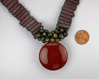 Carnelian and Wood and Horn