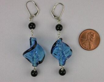 Twist of Blue Earrings