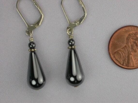 gray hematite drop earrings by judyskeepers on etsy