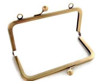 6x3 Antique Brass Purse Frame with Loops  Limited Supply