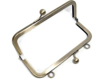 6x2.5 Antique Brass Purse Frame with Loops  Free US Shipping  NEW ITEM