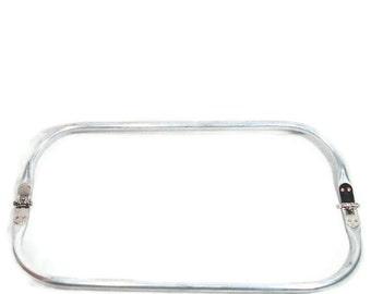 12 x 4.25 Inch Tubular Spring Loaded Aluminum Rectangular Purse Frame FREE U.S. Shipping