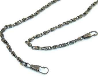 24 Inch Antique Brass Purse Chain with Hooks  FREE US SHIPPING