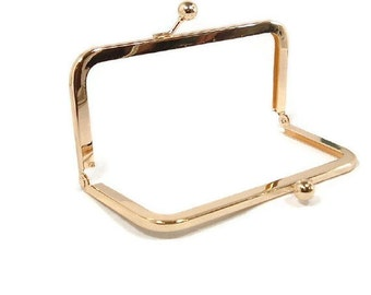 6 x 3 Gold Brass Purse Frame  FREE U S SHIPPING