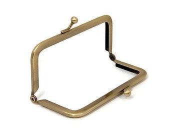 4 X 2 Inch Antique Brass Purse Frame  FREE U.S. SHIPPING