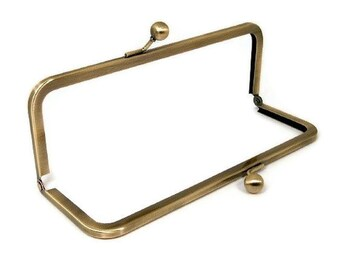 10 X 3.5 Inch Antique Brass Purse Frame  FREE U.S. SHIPPING