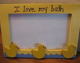 I LOVE MY BATH - photo picture frame