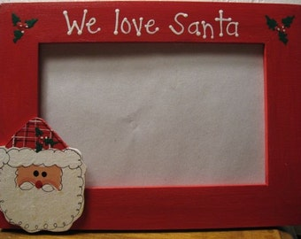 WE LOVE SANTA - Christmas frame Merry Christmas family holiday photo picture frame