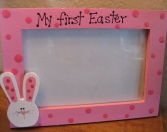 My First Easter Frame - Happy Easter custom personalized baby bunny photo picture frame