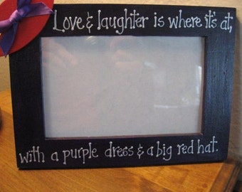 Red Hat Ladies Love and Laughter Red Hat Lady Society - photo picture frame