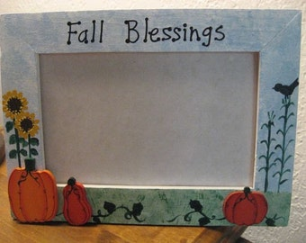 FALL BLESSINGS - halloween autumn photo picture frame