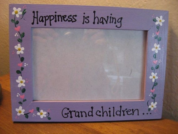Happiness is having Grandchildren - Mothers Day photo picture frame