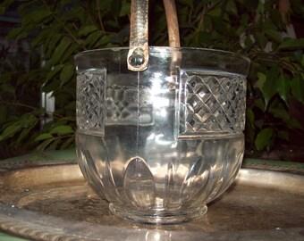 Vintage Crystal Glass Icebucket