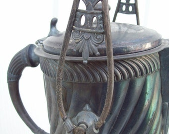 Antique Silver Serving Pitcher With Stand and Goblet-Middletown Plate Co.