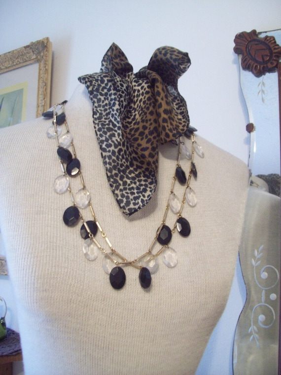 Ultra Fab 1960's Set-Extra Long Beaded Necklace with Earrings
