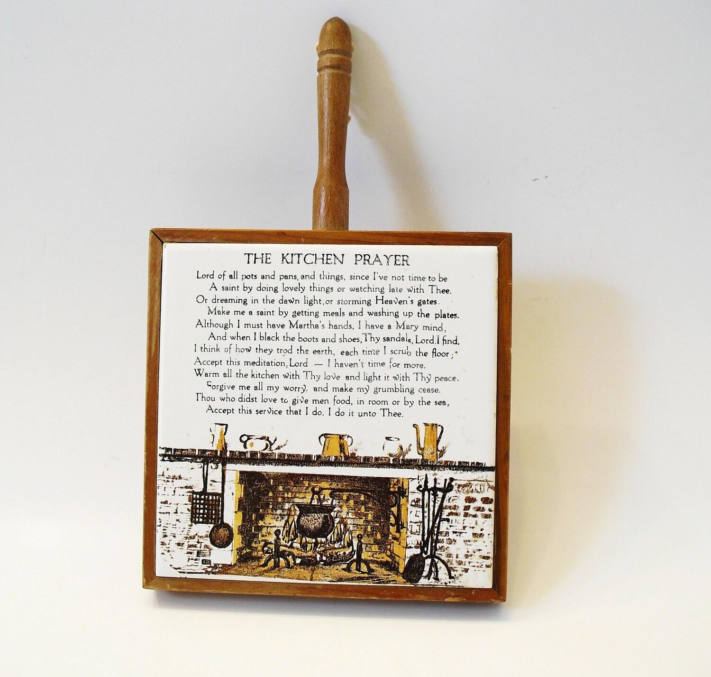 Vintage The Kitchen Prayer Decor By Nine20nine On Etsy