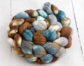 Polwarth Silk spinning  fiber 'quarry'