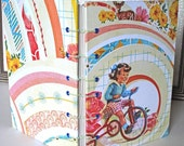 SALE - Little Girl on Tricycle - Colorful 5x7 Coptic Book