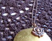 Lovely Vintage Locket with Rose Charm