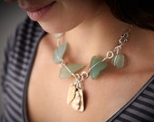 RESERVE for Andrea!!   sea glass necklace/bracelet: poseidon's gift